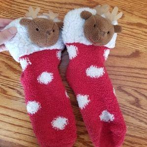 ISO - Fleece Reindeer Socks - NOT FOR SALE